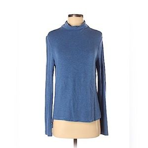 Lou & Grey Dark Teal Mock Neck Tunic Small